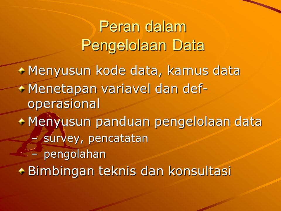 Peran dalam Pengelolaan Data