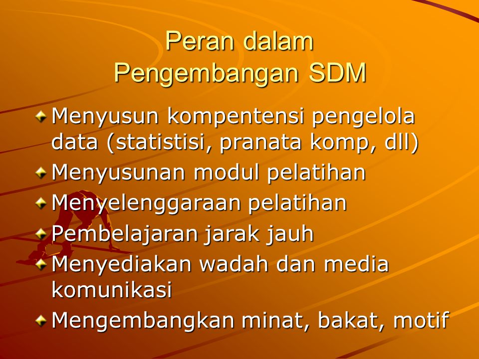 Peran dalam Pengembangan SDM