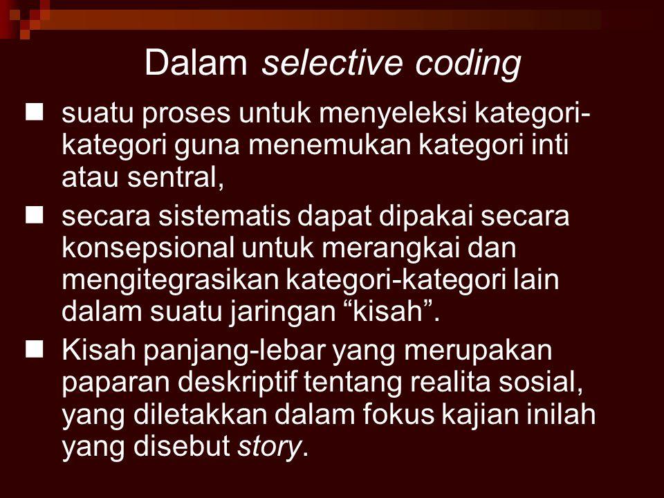 Dalam selective coding