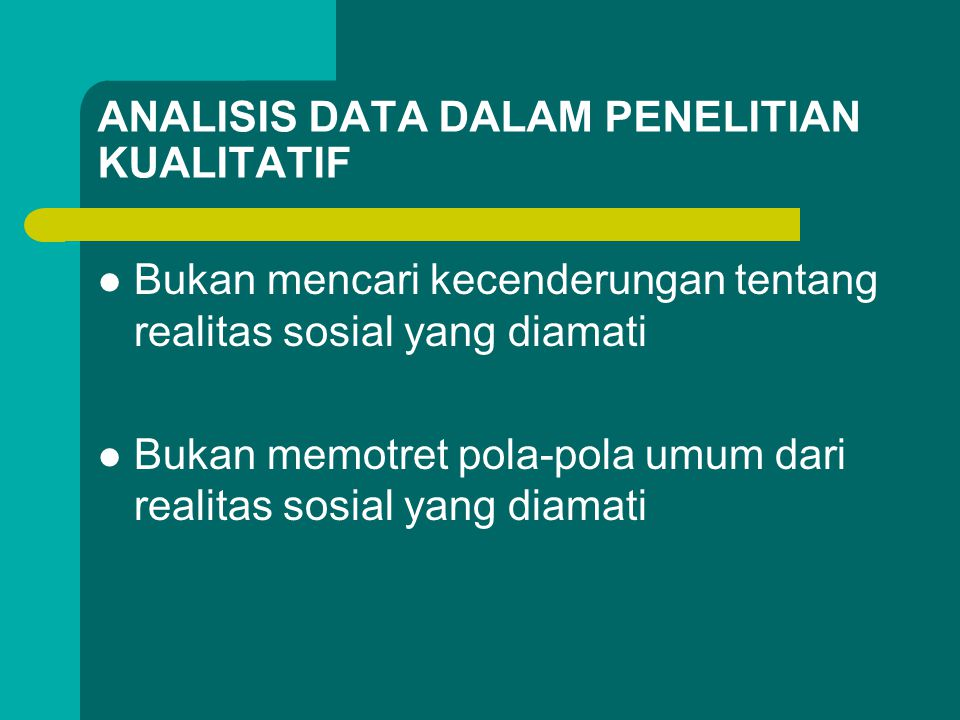 ANALISIS DATA DALAM PENELITIAN KUALITATIF