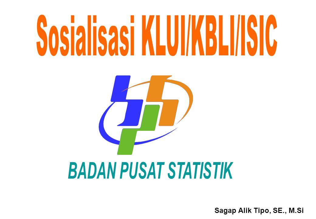 Sosialisasi KLUI/KBLI/ISIC