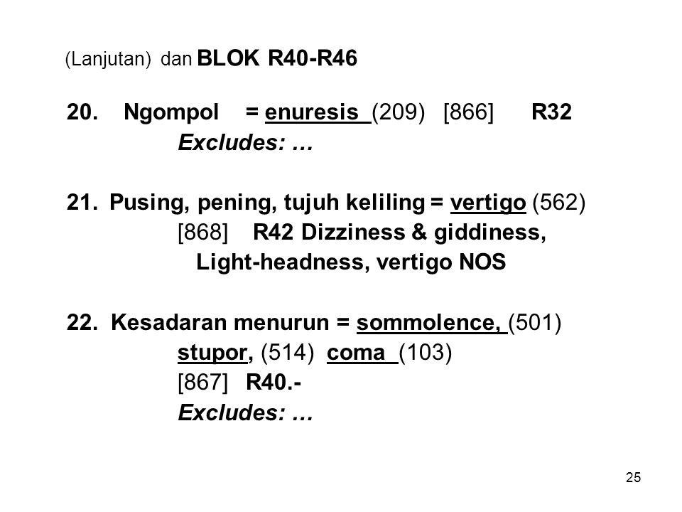 (Lanjutan) dan BLOK R40-R46