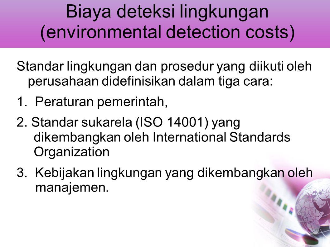 Biaya deteksi lingkungan (environmental detection costs)
