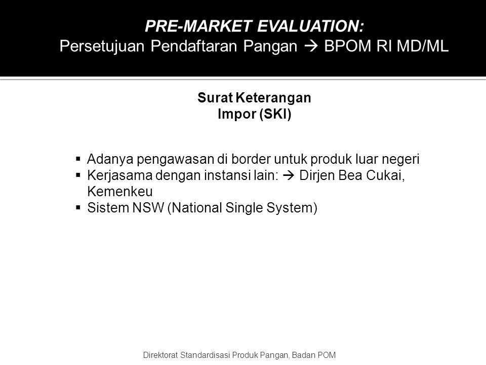 PRE-MARKET EVALUATION: Surat Keterangan Impor (SKI)