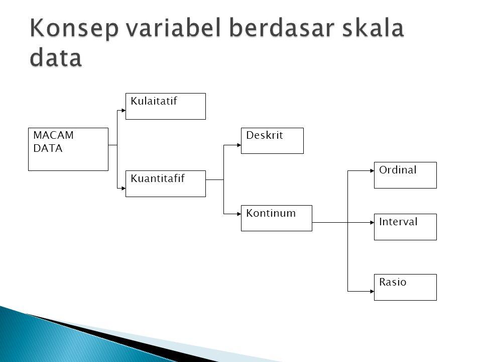 Konsep variabel berdasar skala data