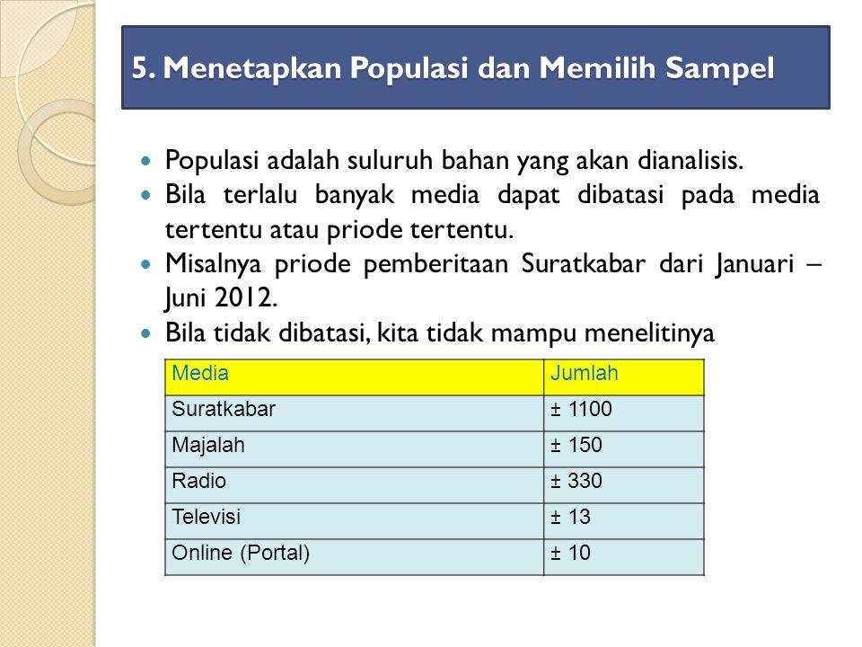 5. Menetapkan Populasi dan Memilih Sampel
