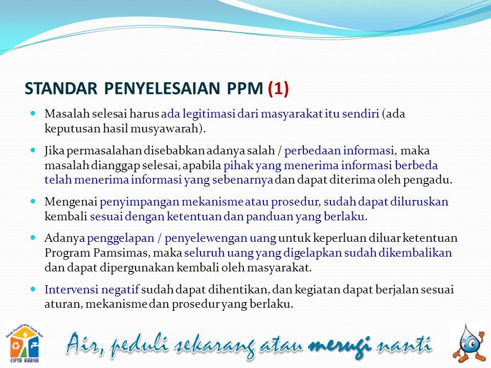 STANDAR PENYELESAIAN PPM (1)