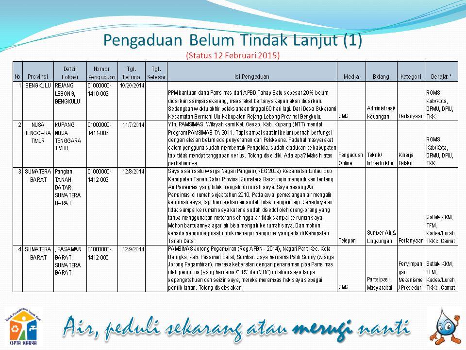 Pengaduan Belum Tindak Lanjut (1) (Status 12 Februari 2015)