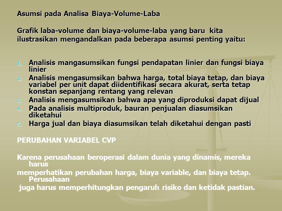 Asumsi pada Analisa Biaya-Volume-Laba