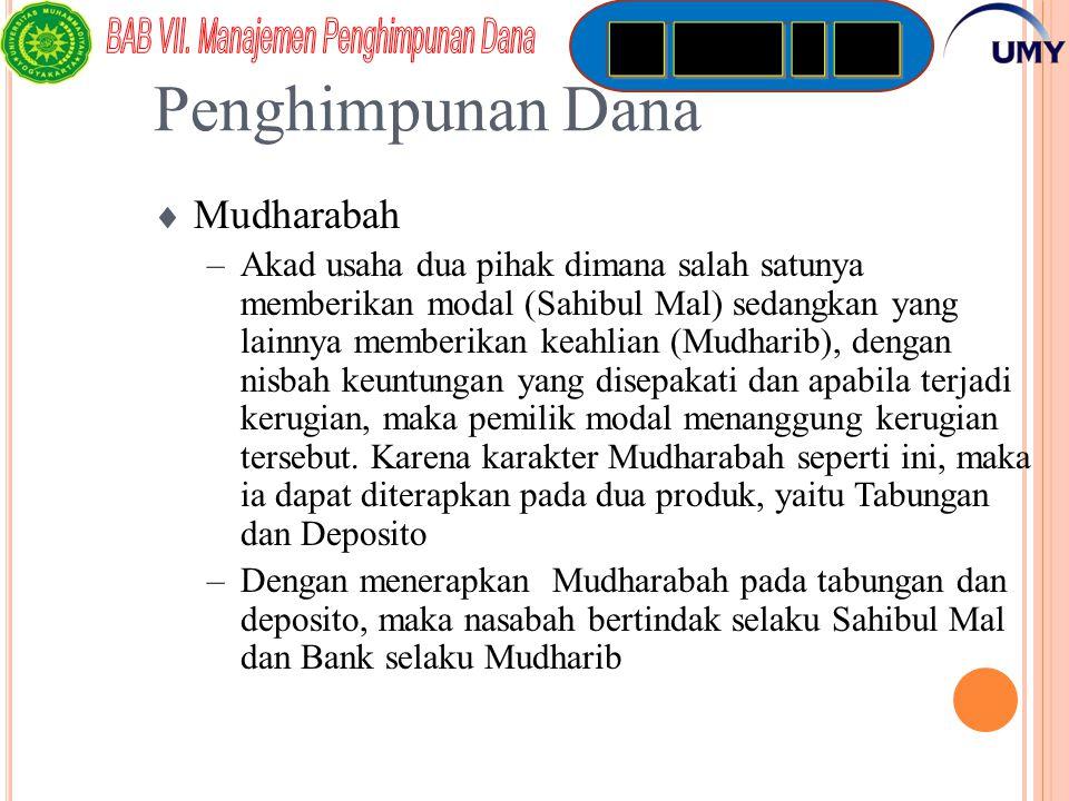 Penghimpunan Dana Mudharabah