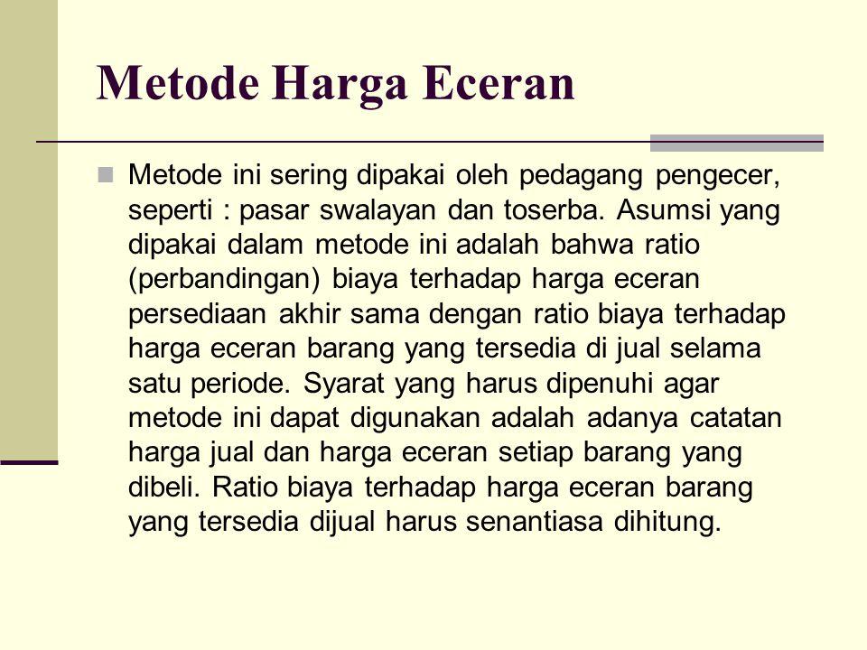 Metode Harga Eceran