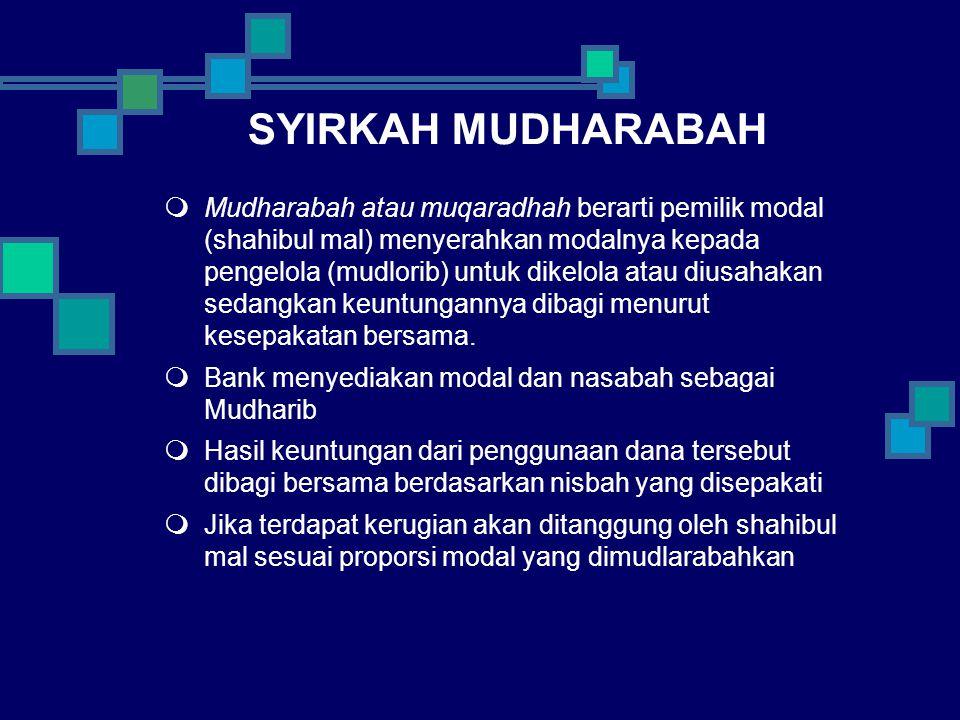 SYIRKAH MUDHARABAH