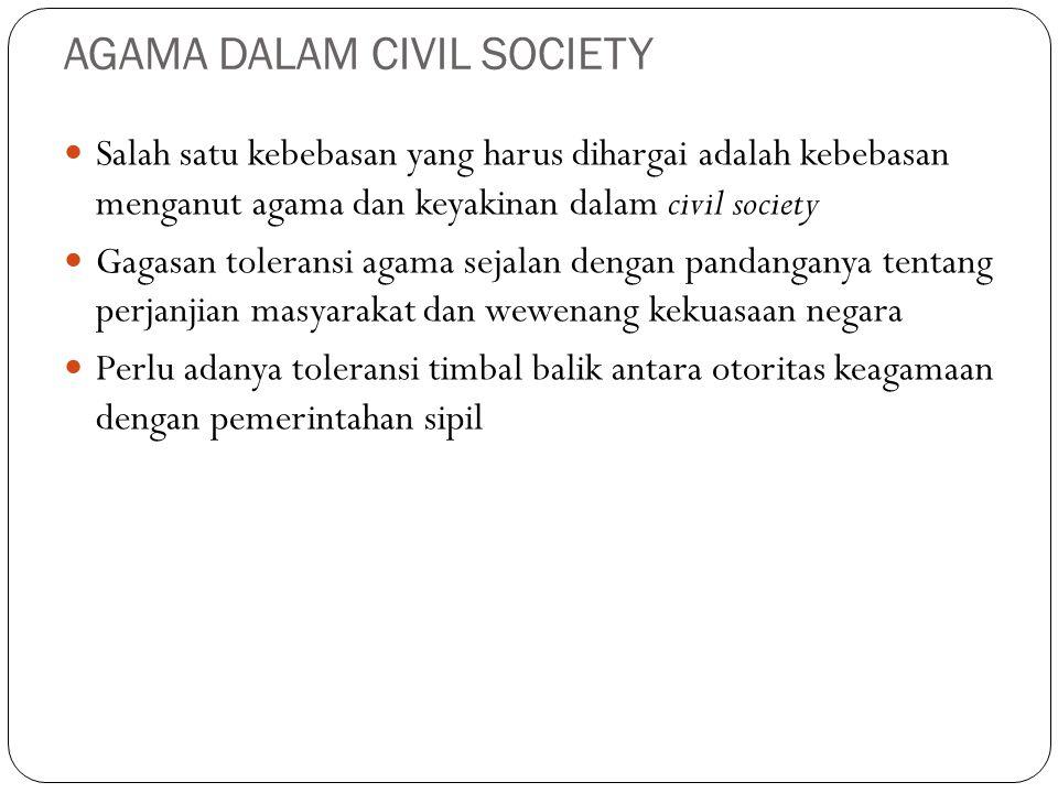 AGAMA DALAM CIVIL SOCIETY