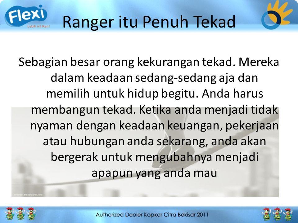 Ranger itu Penuh Tekad