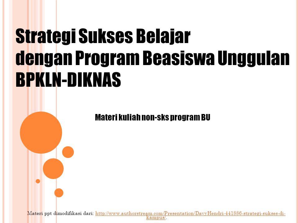 Materi kuliah non-sks program BU