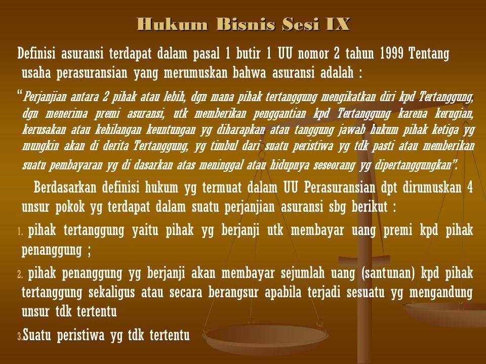 Hukum Bisnis Sesi IX