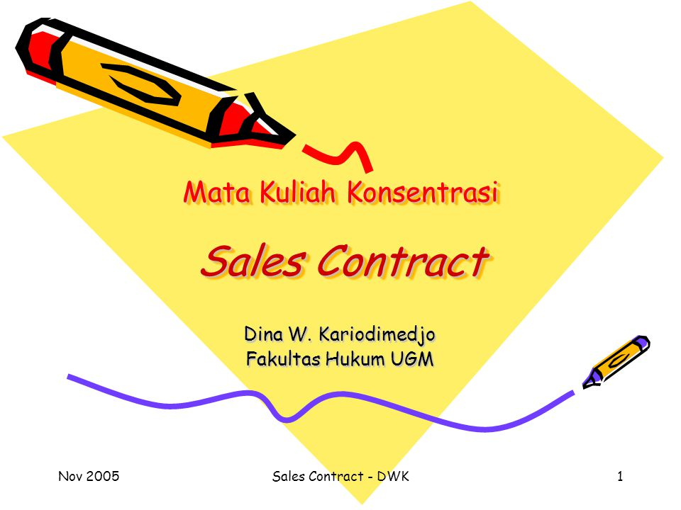 Mata Kuliah Konsentrasi Sales Contract