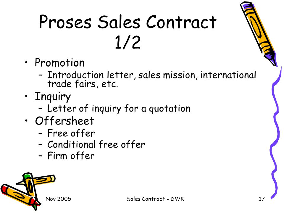 Proses Sales Contract 1/2