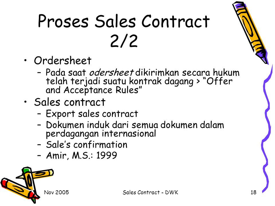 Proses Sales Contract 2/2
