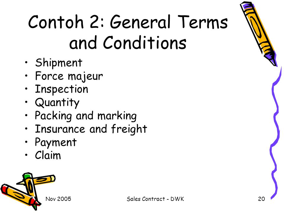 Contoh 2: General Terms and Conditions