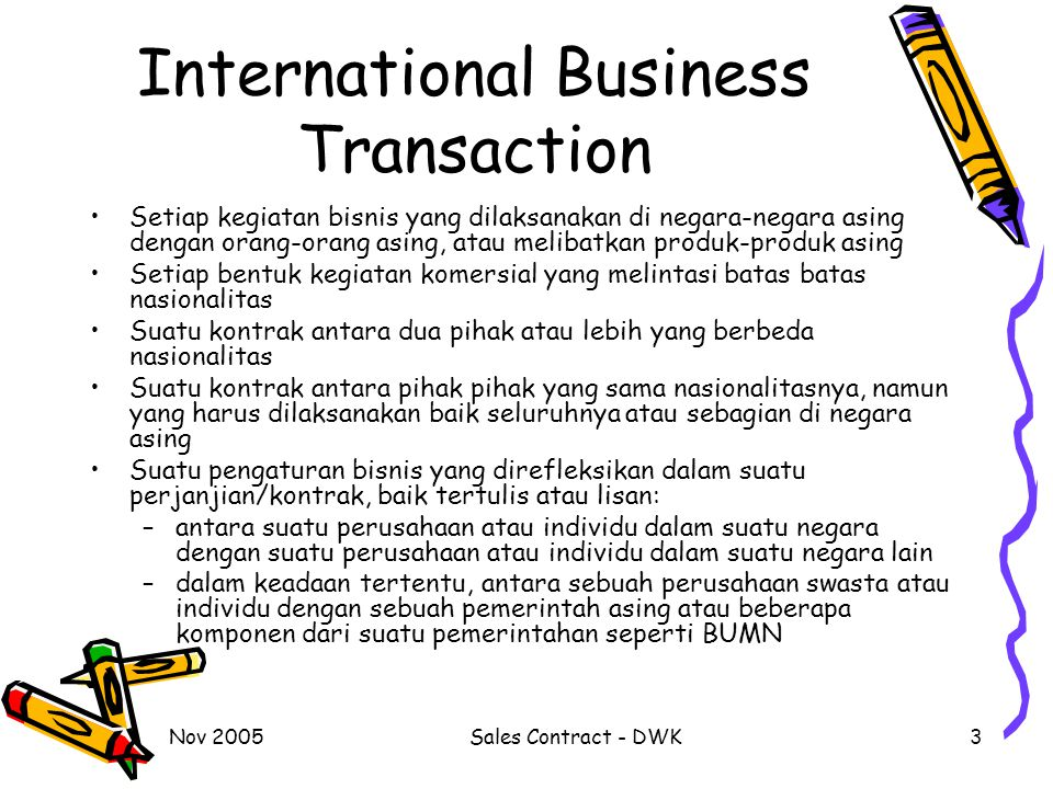 International Business Transaction