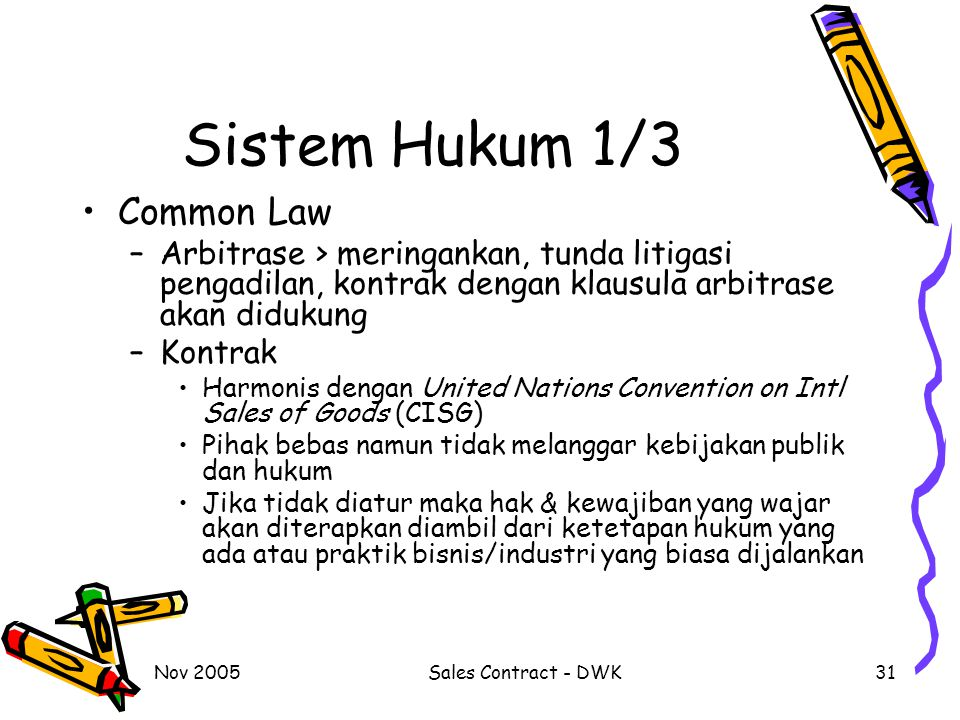 Sistem Hukum 1/3 Common Law