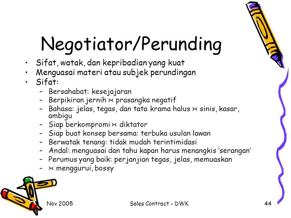 Negotiator/Perunding