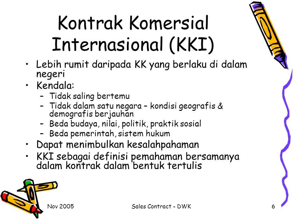 Kontrak Komersial Internasional (KKI)
