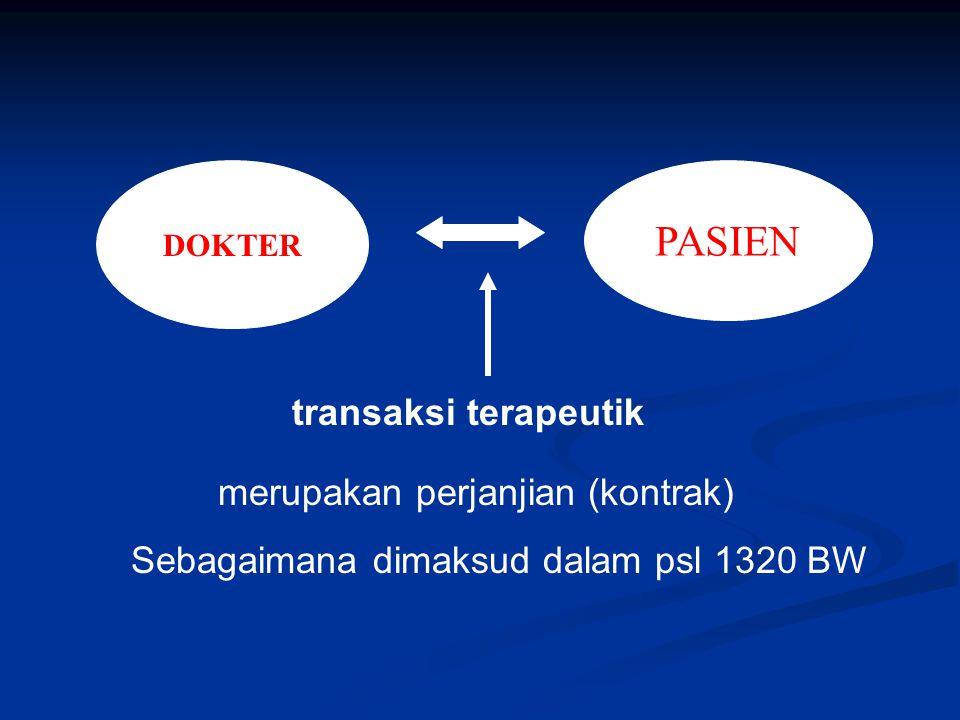 PASIEN Sebagaimana dimaksud dalam psl 1320 BW DOKTER