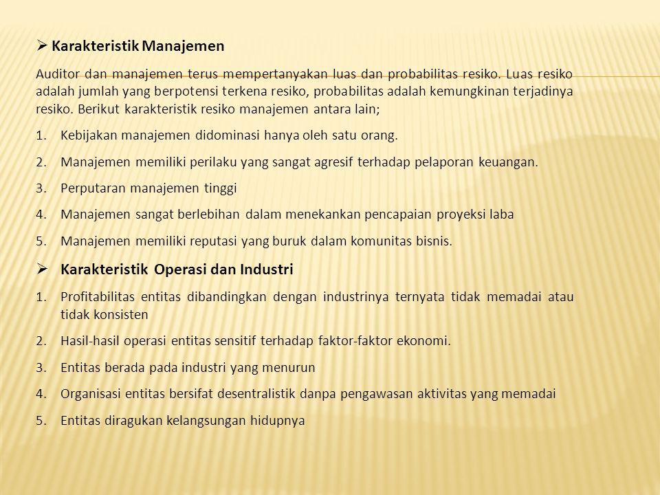 Karakteristik Manajemen