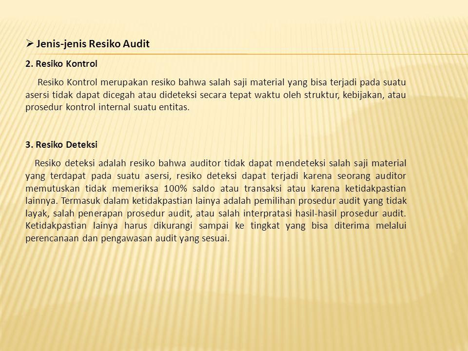 Jenis-jenis Resiko Audit