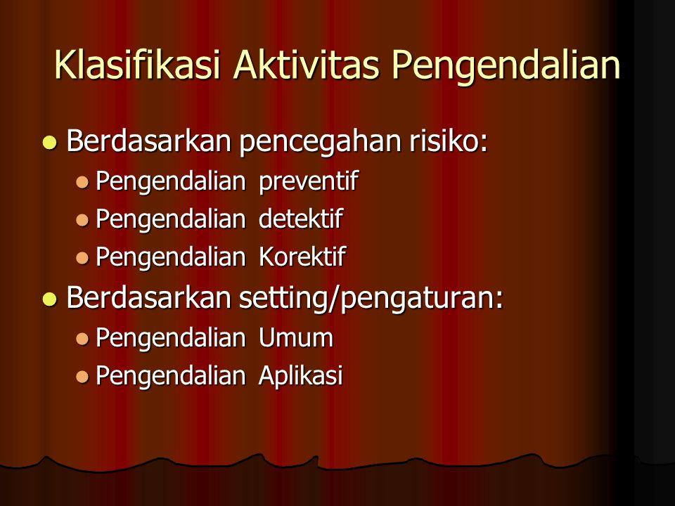 Klasifikasi Aktivitas Pengendalian