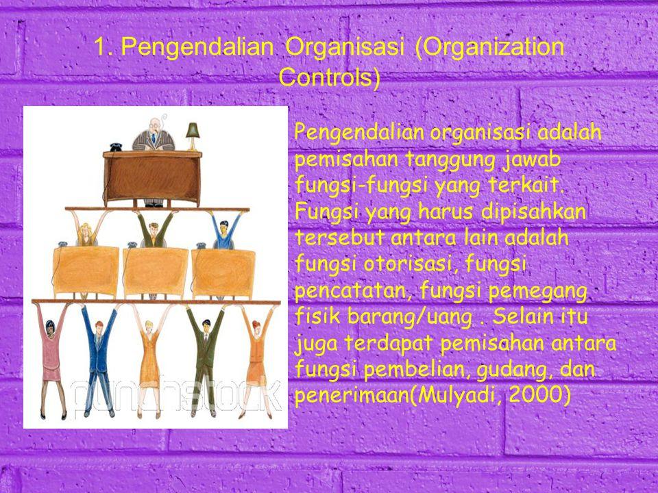 1. Pengendalian Organisasi (Organization Controls)