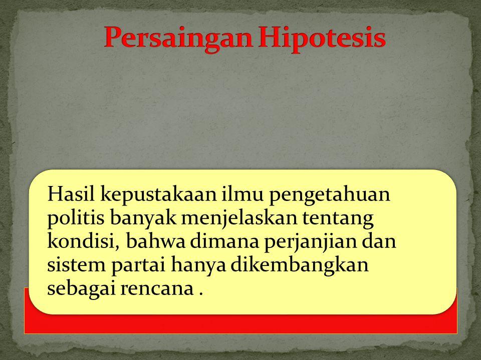Persaingan Hipotesis