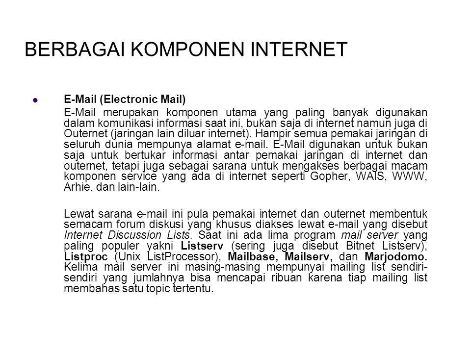 BERBAGAI KOMPONEN INTERNET
