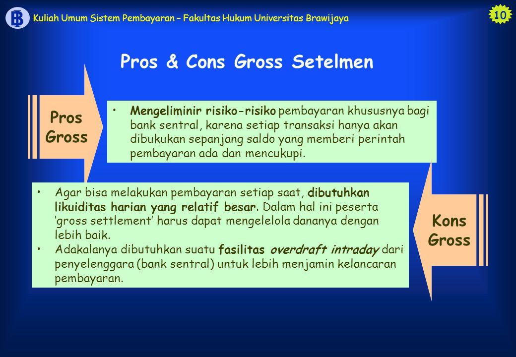 Pros & Cons Gross Setelmen