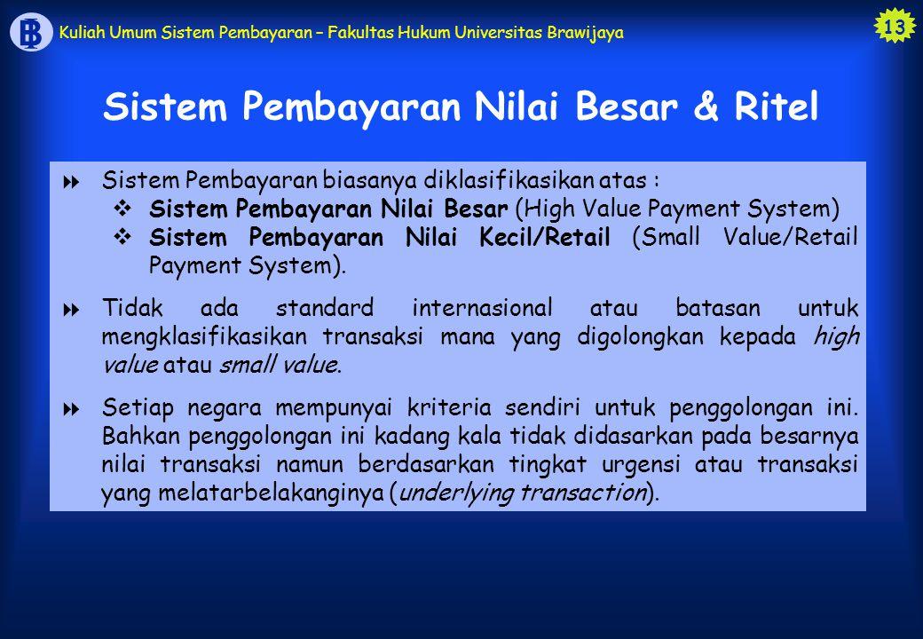 Sistem Pembayaran Nilai Besar & Ritel