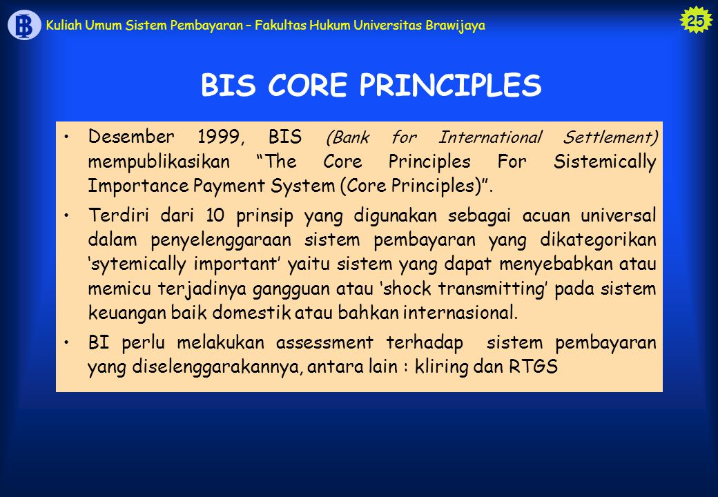 BIS CORE PRINCIPLES