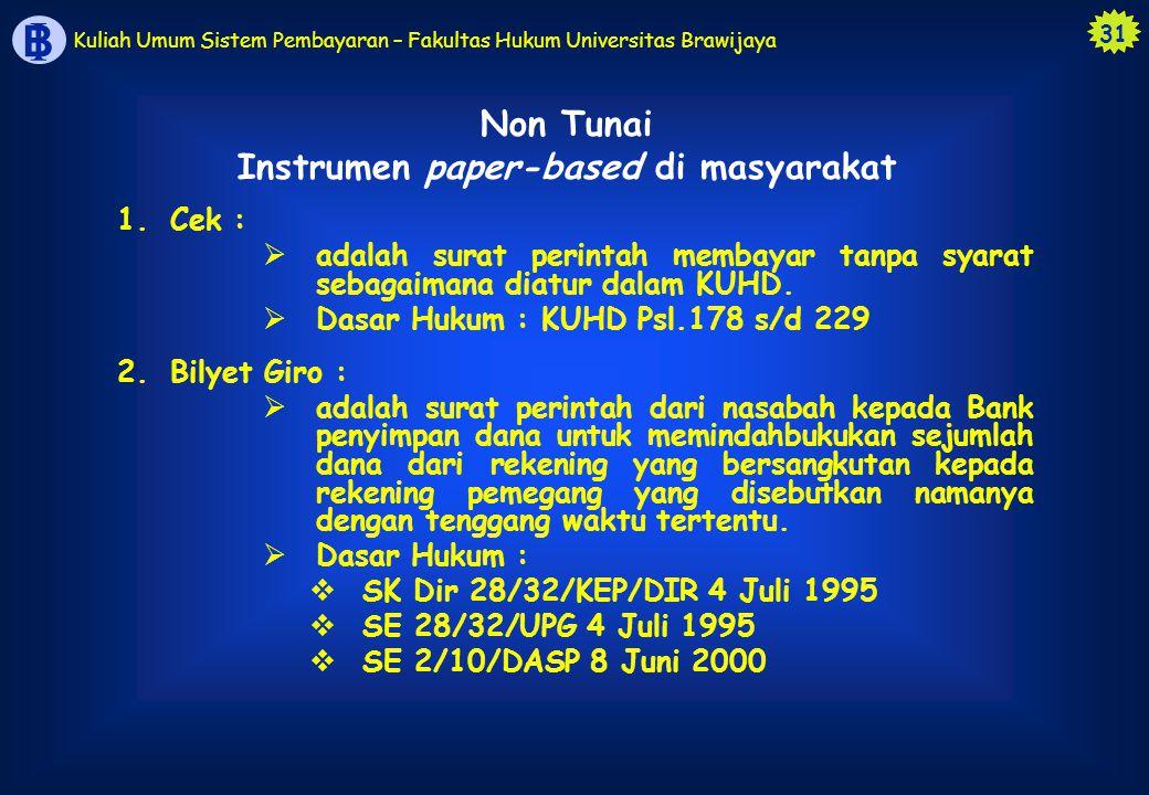 Instrumen paper-based di masyarakat