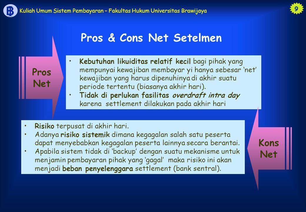 Pros & Cons Net Setelmen