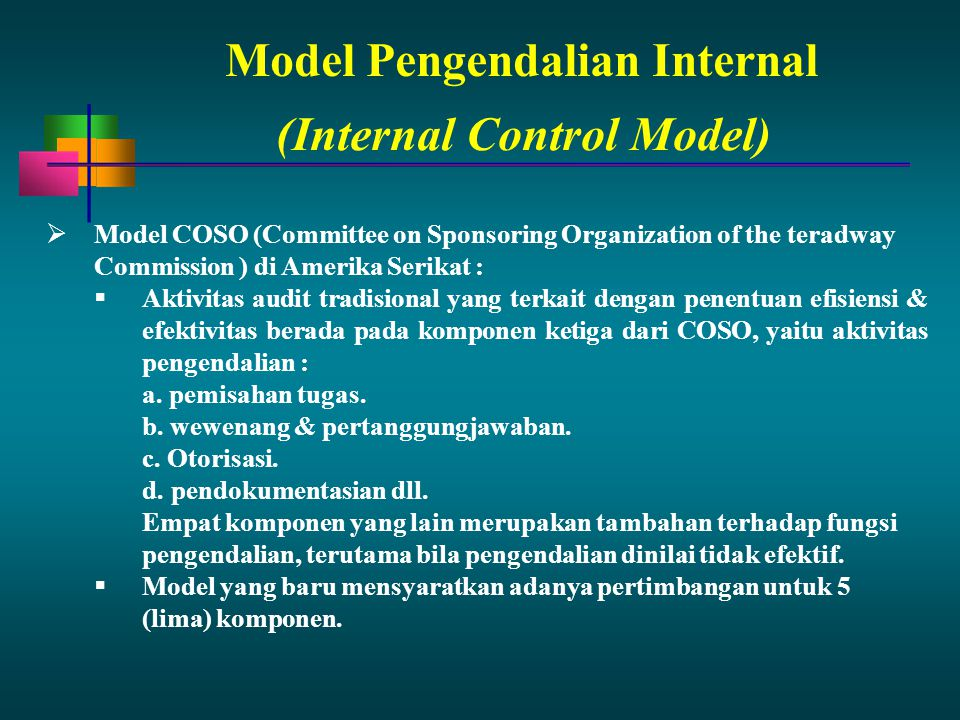 Model Pengendalian Internal