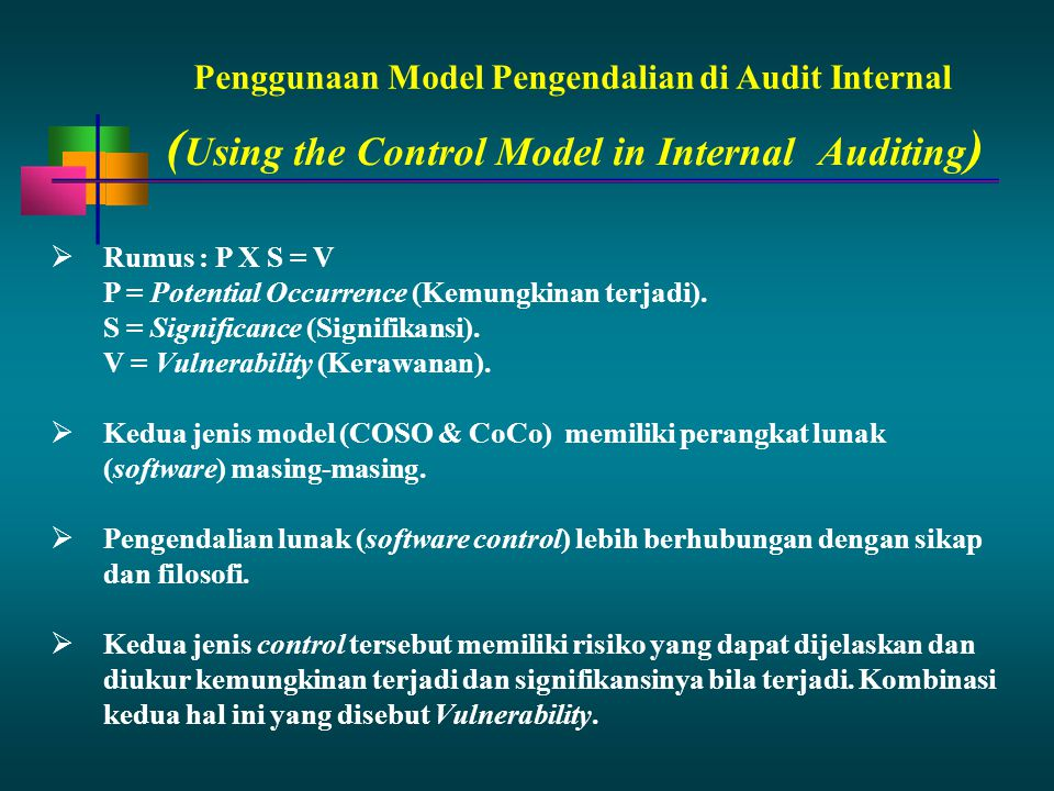 (Using the Control Model in Internal Auditing)