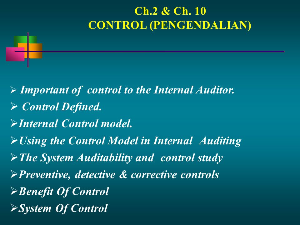 Ch.2 & Ch. 10 CONTROL (PENGENDALIAN)