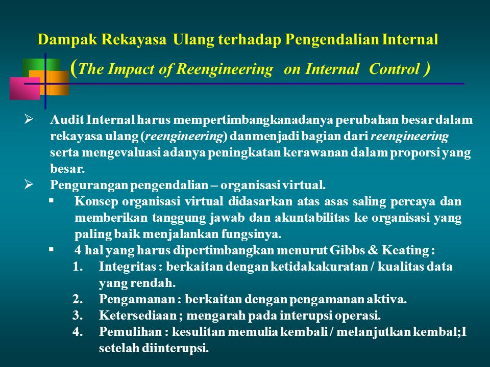 (The Impact of Reengineering on Internal Control )
