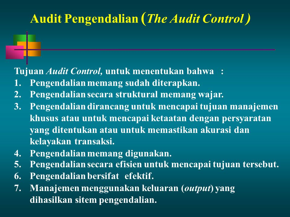 Audit Pengendalian (The Audit Control )