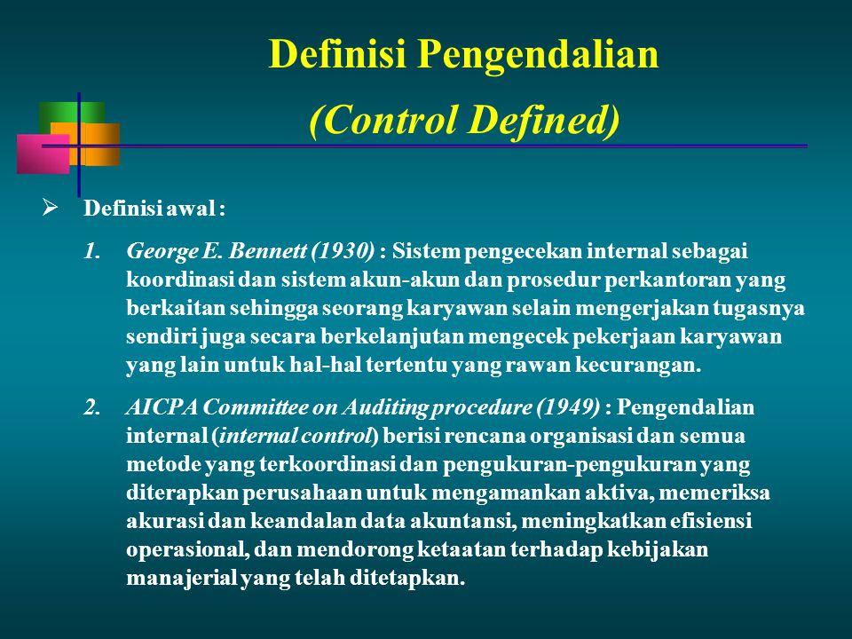 Definisi Pengendalian