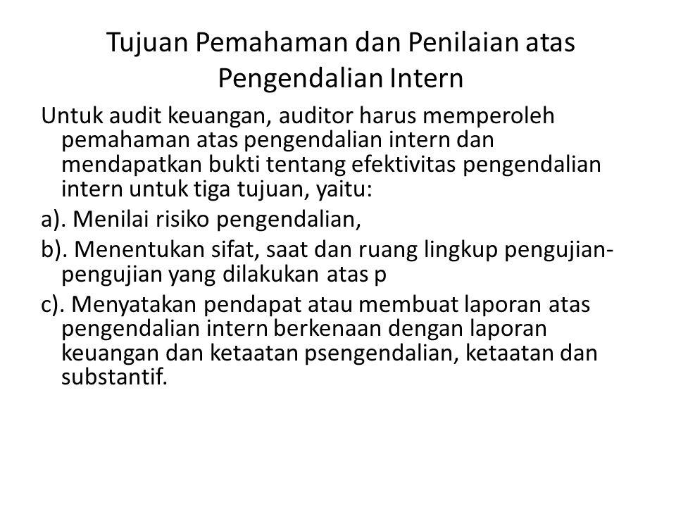 Tujuan Pemahaman dan Penilaian atas Pengendalian Intern