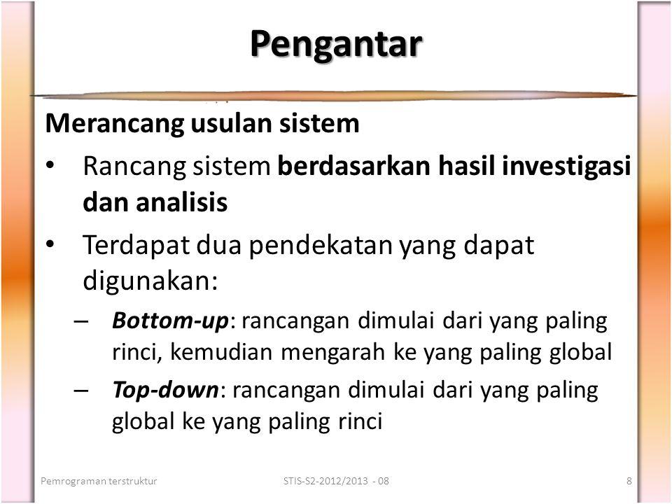 Pengantar Merancang usulan sistem