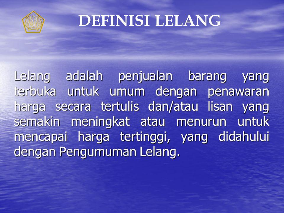 DEFINISI LELANG
