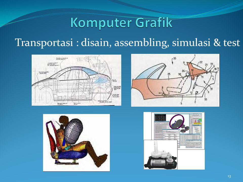 Komputer Grafik Transportasi : disain, assembling, simulasi & test